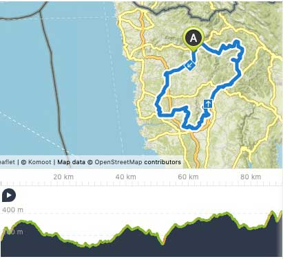 Bikenauts Istria Day 3 Route