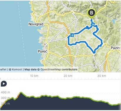 Bikenauts Istria Day 1 Route