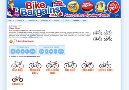 BikeBargains - bike deals