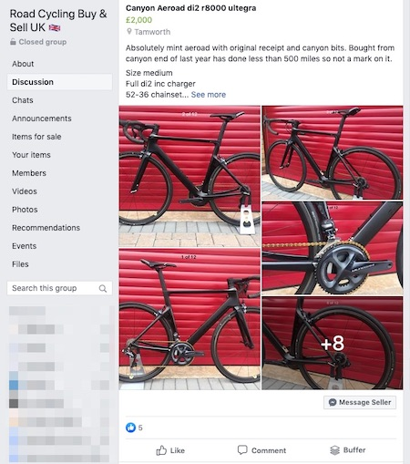 Facebook Groups Cycling Buy and Sell
