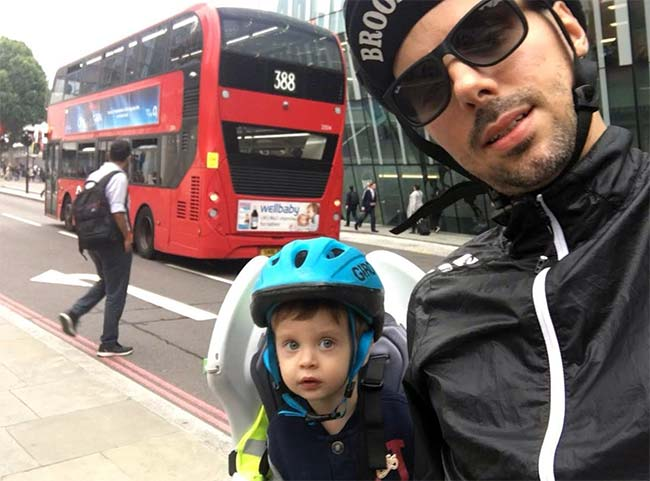Cycling with children in London