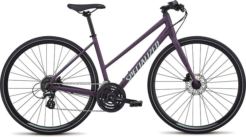 Step Through Hybrid Bicycle.